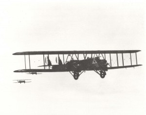 Martin MB-2 NBS-1 in flight in Hawaii, 1920s.