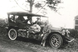 Camping party on Big Island of Hawaii in a 1925 Twin-6 Packard.