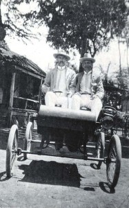 Early automobile in Honolulu, c1920s.