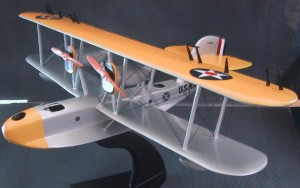 A replica of John Rodgers' PN-9 No. 1 aircraft in which he made the record-setting flight from San Francisco to Hawaii.