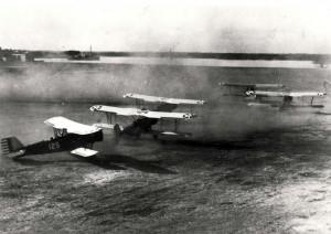 Planes taking off from Luke Field, c1920s.