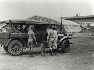 Commanding General of the Hawaiian Department Summerall inspects Luke Field. He was commanding general from August 5, 1921 to August 11, 1924.