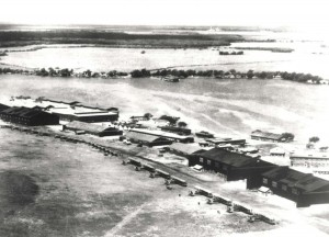 NBS-1 and DH-4 aircraft lined up at Luke Field, c1924.