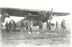 The U.S. Army Fokker C2-3 Bird of Paradise rests at Wheeler Field after completing first mainland to Hawaii flight June 29, 1927.