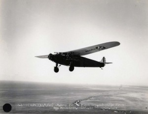 U.S. Army Fokker in first Trans-Pacific flight from Oakland to Honolulu by Lts. Lester Maitland and Albert Hegenberger. Photo taken December 3, 1928.