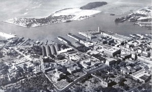 Honolulu Harbor, December 25, 1927.