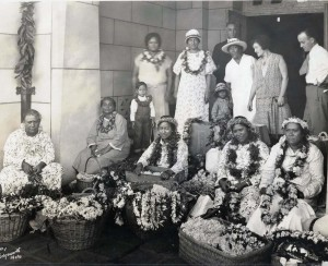 Lei sellers in Honolulu.