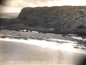 Kaali Bay Landing Field, Niihau, July 10, 1924.