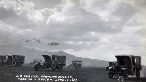 Air Service, Hawaiian Division, passing in review, Schofield Barracks, June 17, 1922.