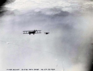 U.S. Army Air Corps Martin Bomber & 6th Sqd MB 3A, over Schofield Barracks, August 1928
