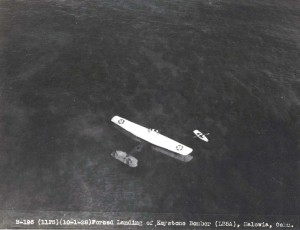 Forced landing of Army Keystone bomber at Haleiwa October 1928