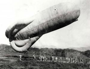 Observation balloon at Fort Ruger, Honolulu, c1920-1924.