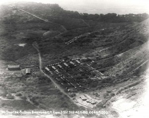 Encampment of the 3rd Balloon Company at Fort Ruger on back side of Diamond Head, Honolulu, September 15, 1921.