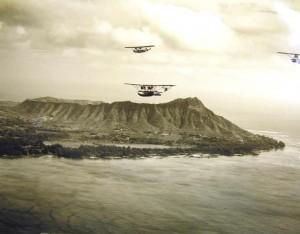 1930s flight over Diamond Head
