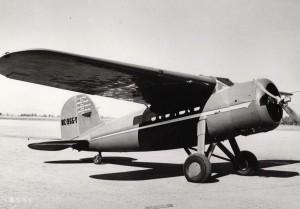 Amelia Earhart's Lockheed Vega, 1932.