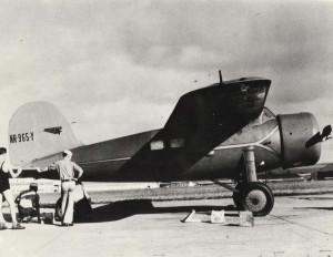 Mechanics at Wheeler Field, Oahu, calibrate the compass on Amelia Earhart's airplane, January 8, 1935.