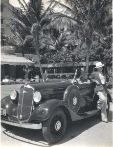 1935 Chevrolet in Waikiki.