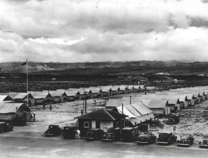 First Lt. Robert Warren moved from Luke Field with four aircraft and 12 men and became Hickam Field's first commanding officer on August 27, 1937. They were attached to Fort Kamehameha for rations, quarters and medical; however medical and quartermaster units were later moved into this tent city at Hickam.