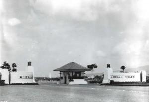 Entrance to Hickam Field, Hawaii, 1938.