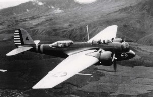 B-12 aircraft stationed at Hickam Field, 1930s.