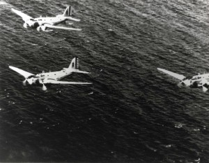 B-18s of 5th Bombardment Group, 31st Bomb Squadron, over the Pacific, c1938-1939