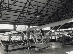 Inter-Island Airways, October 20, 1934. View of the after structure of one of the amphibian planes at John Rodgers Airport.