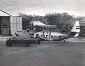 Inter-Island Airways plane, being fueled at John Rodgers Airport by Standard Oil truck.