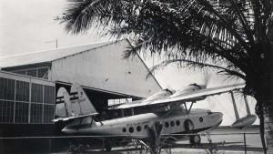 Inter-Island Airways plane at John Rodgers Airport, 1937-1940.