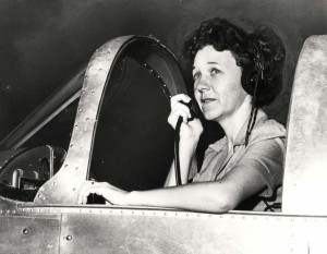Marguerite Gambo, owner of Gambo Flying Service, John Rodgers Airport, 1939.