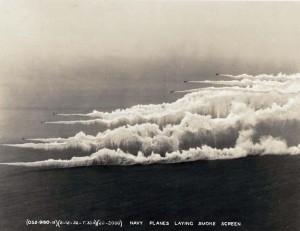 Navy planes laying smoke field February 12, 1932.
