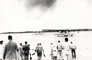 The Navy made a mass flight of six Consolidated P2-Y-1 seaplanes from San Francisco to Pearl Harbor on January 12, 1934 in 24 hours, 45 minutes.