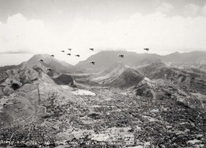 Aviation Day formation over Oahu, December 17, 1934.