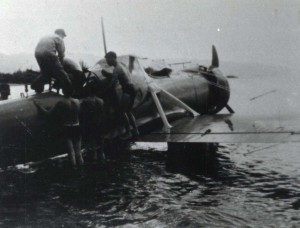 Army plane crash at Haleiwa, July 19, 1938.