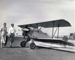 Sgt. Truman P. Taylor, U.S. Air Corps built one of American's smallest planes in the basement of his home in Honolulu. It has a 20 ft wing span, flies 70 mph and climbs 3,000 ft.