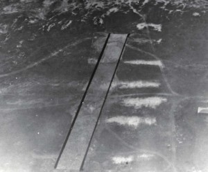 """Bellows Field. Original runway completed January 11, 1933, cost $3,550.07. Made of coral rock 10"""" deep, rolled to hard smooth surface & oiled. 75 ft long by 983 ft long."""