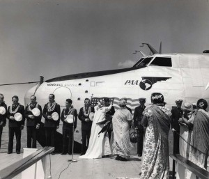 Christening ceremony for the Pan American Honolulu Clipper in 1939.