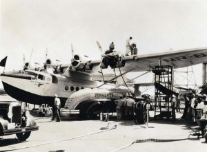 Pan American Clipper arrival April 20, 1935