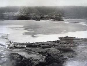 Mokapu Peninsula before dredging for KMCAS, 1938.
