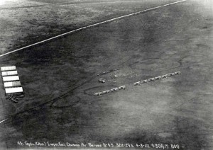 4th Observation Squadron Inspection April 8, 1922 at Division flying field at Schofield Barracks.
