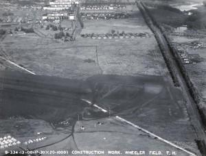 Wheeler Field, Oahu, construction work, October 17, 1930.