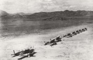 A-3 on Flight line at Wheeler Field, Oahu, c1930-1931.