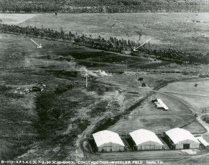 Wheeler Field, Oahu, construction July 2, 1930.