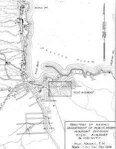 Hilo Airport map, October 1946