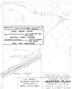 CAA Region IX 1947 National Airport Plan, Proposed airport at Kamuela, Hawaii, February 26, 1947.