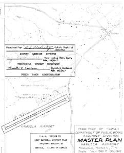 CAA Region IX 1947 National Airport Plan, Proposed airport at Kamuela, Hawaii, February 26, 1947.