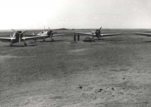 OA-19 Grumman Duck, at Morse Field, Hawaii, 1941.