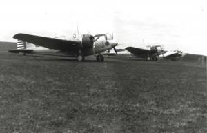 B-12 bomber from Hickam Field at Morse Field, Hawaii, 1941.