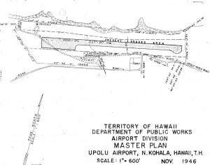 Upolu Airport, Hawaii, Master Plan, November 1946.