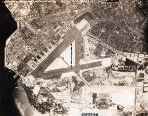 Aerial of Hickam Air Force Base after its name was changed on March 16, 1948 (formerly Hickam Field). Photo taken March 29, 1948.