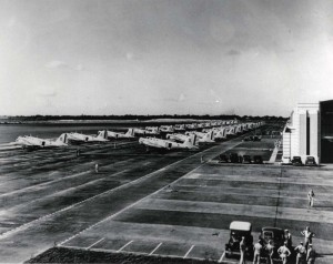 B-18s on Hickam Field flight line, 1940.